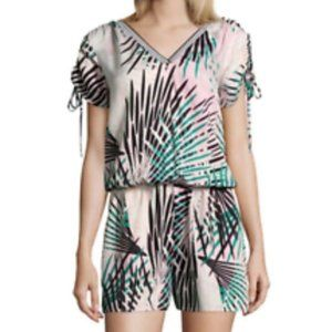 PROJECT RUNWAY orchid floral romper XS